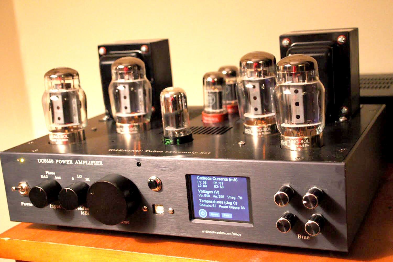 Bens Push Pull Ultralinear Triode 6550 Amplifier In Addition Tube Schematic On 6sn7 This Is My 3rd Time Using The Beefy Power Tubes Kt88s It Switchable Between Mode And With